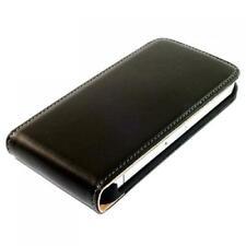 Handy Tasche iPhone 4 4S Schutz Hülle Flip Cover Klapp Ledertasche Case Schwarz