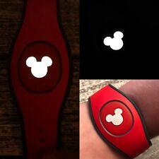 Set of 5 Disney Magic Band 2 or 1 Decal Skin Sticker Mickey Head GLOW IN DARK