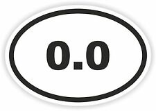 Autocollant OVAL marathon 0,0 zéro pas Runner mile km tri nager courir vélo pare-chocs