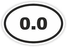 Marathon Oval Sticker 0.0 Zero Not Runner Mile Km Tri Swim Run Bike Ride Bumper
