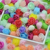 10/50Pcs Mini Foam Roses Small Flowers Head Buds Wedding Bride Party Home Decor