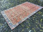 Turkish rug, Handmade rug, Vintage rug, Bohemian rug   5,1 x 8,0 ft
