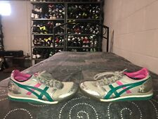 Asics Onitsuka Tiger Ultimate 81 Womens Athletic Shoes Size 8 Gray Pink Teal