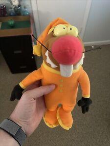 """Vtg Nickelodeon 1997 Angry Beavers Slumber Party Daggett Pajama Plush Mattel 12"""""""