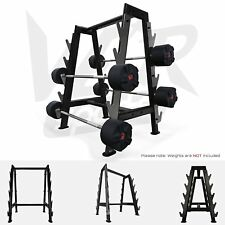 We R Sports Hex Barbell Bar Storage Rack Stand Holds 10 Bars Gym Weight Rack