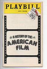 A History Of The American Film ANTA Theatre Playbill 1978 NYC Brent Spiner VG