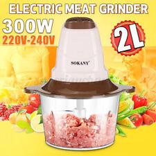 2L 300W Multi zerkleinerer Multihacker Fleischwolf Mixer Elektrisch Standmixer