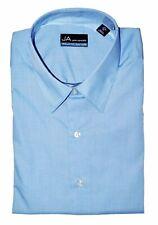 John Ashford Men Regular Fit Dress Shirt Blue Size 17 34 35 Business Casual