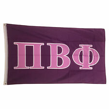 Pi Beta Phi Dark Purple/Light Purple Letter Flag 3' x 5'