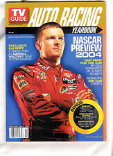 Dale Earnhardt Jr ~TV GUIDE ~ AUTO RACING YEARBOOK ~ BONUS POSTER ~ APRIL. 2004