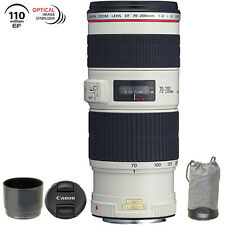Canon EF 70-200mm f/4L IS USM Lens with Case and Hood USA Warranty