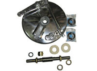 """Royal Enfield 7"""" Front Brake Drum Plate Assembly With Complete Axle Assembly"""