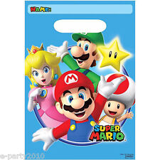 Super Mario Bros Loot Lolly Bags pkt 8