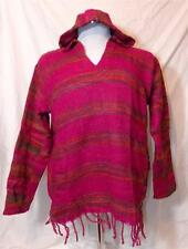 FAIR TRADE FLEECE BLANKET HIPPY BOHO FESTIVAL HIPPIE JUMPER HOODIE FROM INDIA M