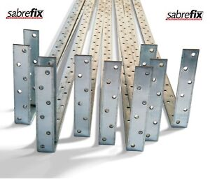 Sabrefix 10X RESTRAINT WALL PLATE STRAPS HEAVY DUTY BENT 4MM THICK IN ALL SIZES