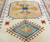 Stunning Vintage 1980-1990s Muted Natural Dyes 6x8ft Oushak Rug