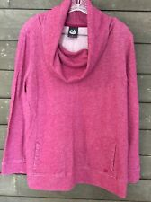 Gloria Vanderbilt 614 Raspberry Cowl Neck Pullover Sweatshirt Womens L