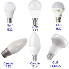 PIFCO LED Golf Candle GLS Energy Saving Bulbs E14 E27 B22 Warm and Cool White