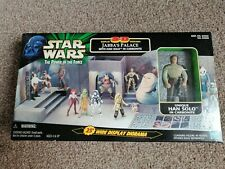 Star Wars POTF2 3-D Diorama Jabba's Palace & Han Solo Carbonite Set - MISB Rare!