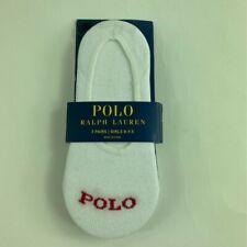 Polo Ralph Lauren Girls Lot Of 3 Ankle Socks White Stretch 8-9.5 New