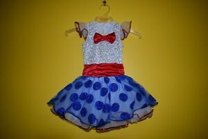 Kids Red, White and Blue Tutu Dress