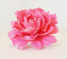 Peony PINK HOT Lg - Edible Sugar Flowers - Gumpaste - ChappCakes Decor