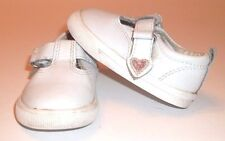 Casual Shoes Size 3 Baby Girl White Adhesive Closure Pink Heart Healthtex