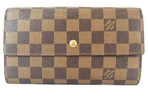 LOUIS VUITTON Portefeiulle International Damier tri-fold purse N61217