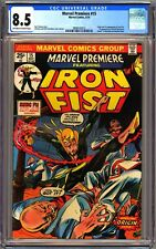 MARVEL PREMIERE #15 - CGC 8.5 - OW/WP - VF+ 1ST IRON FIST DANNY RAND