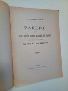 NAZZANI Ildebrando: PARERE SOPRA ...ACQUEDOTTO DI TERRANOVA DI SICILIA, 1914