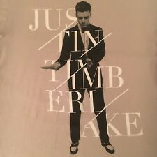 beige Justin Timberlake t shirt - 2013/14 World Tour 20/20 - Excellent! - (L)