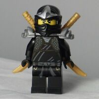 Lego Ninjago Cole ZX Minifigure with golden swords Like new