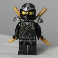 Lego Ninjago Cole ZX Minifigure with golden swords Like new