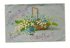 Antique Postcard - Greetings From Eastyell - Lily of the Valley