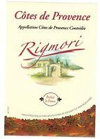 Etiquette de vin - Wine Label - Côtes de Provence - RIGMORI