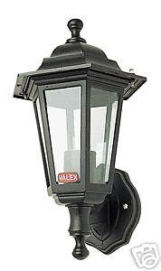 LANTERNA MONTANTE PLAFONIERA APPLIQUE LAMPADA E27 6 FACCE a PARETE MURO GIARDINO