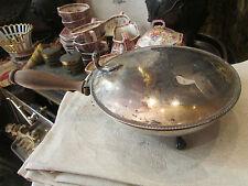 ancienne sauciere anglaise metal argenté blason