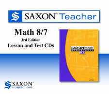 Saxon Teacher Homeschool Math 87 3rd Edition Lesson & Test CD-roms NEW!