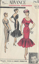 1950s Vintage Sewing Pattern B28 DRESS (R852) By Suzy Perette