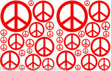 38 RED PEACE SIGN VINYL KIDS BEDROOM DECAL STICKER Teen Kids Boy Girl Dorm Room