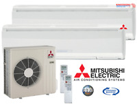 20000 BTU Mitsubishi MR.SLIM Ductless Mini Split Air Conditioner DUAL ZONE HEAT
