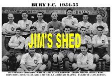 BURY F.C. TEAM PRINT 1954-55 (HART / FAIRCLOUGH / SIMM / TILLEY)