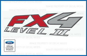 03 - 09 Ford Ranger FX4 Level II 2 Decals - F - truck stickers bed side set 4x4