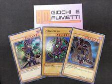 LOTTO 3 CARTE MAGO NERO in italiano RARE MISTE YUGIOH AFFARE!