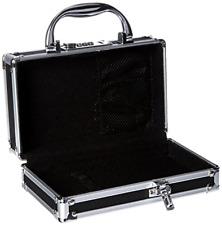 Briefcase with Combination Lock Dual Locks Medicine Organizer Case Secure Black