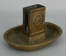 Small Early 20thC Antique BILTMORE HOTEL Brass Matchbox Holder Ashtray, NR