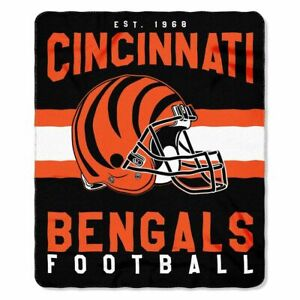 """Cincinnati Bengals 50"""" x 60"""" Singular Fleece Throw Blanket by Northwest"""