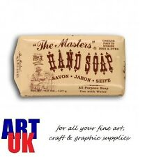 B & J The Masters Artists HAND SOAP Removes Paint Ink Oil & Dye colours 128g Bar
