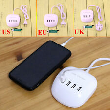 4 Multi-Port Fast Charger UK EU USB Charging Device Station Wall Desktop Adapter