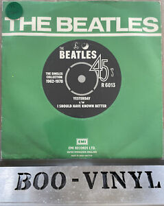 """The Beatles Yesterday 7"""" Vinyl UK 1976 Parlophone Green Single Collection EX"""